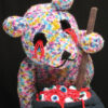 knitted teddy bear with no eyes