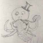 Knitting Octopus sketch