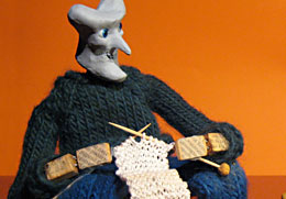 learning to knit animation