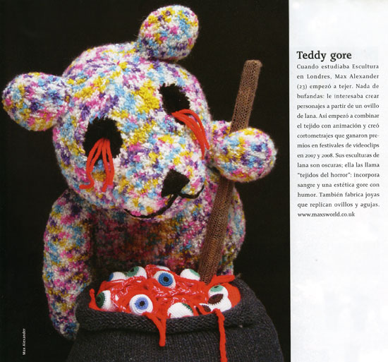 teddy gore knitted sculpture