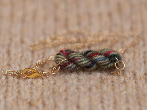 English Countryside - Skein of Yarn Necklace