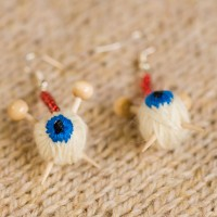 Eyeball Knitting Earrings