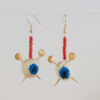 Eyeball Knitting Earrings