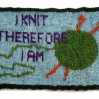 I Knit Therefore I Am Greeting Card
