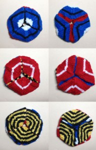 Knitted Hexaflexagon