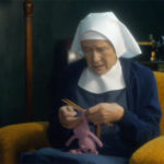 Knitted Pig on Call the Midwife