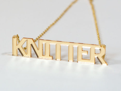 Knitter Necklace - Gold Acrylic