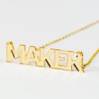 Maker Necklace - Gold Mirror Acrylic