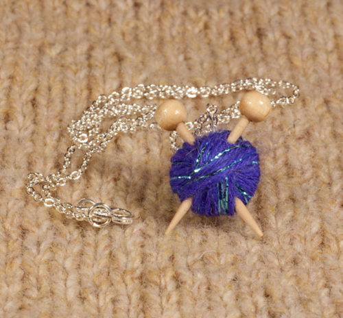 Knitter's Necklace - Sparkle Purple