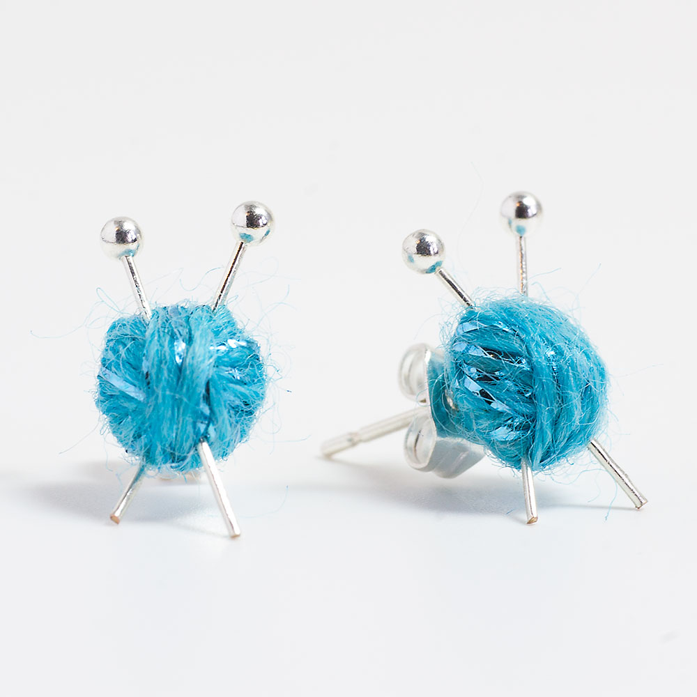 Mini Knitting Earrings Max S World