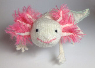 Knitted Axolotl Greeting Card