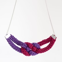 knit knots red purple