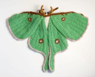 Knitted Luna Moth (Actias luna)