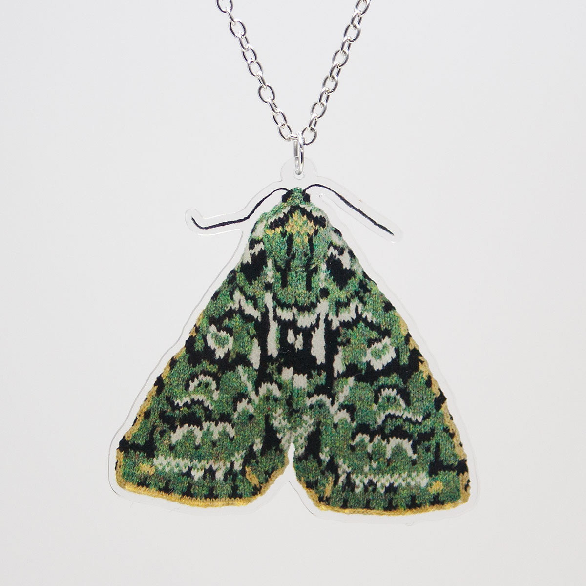 merveille du jour moth acrylic necklace. Black Bedroom Furniture Sets. Home Design Ideas