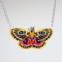 Zaddach's Emperor Moth Necklace