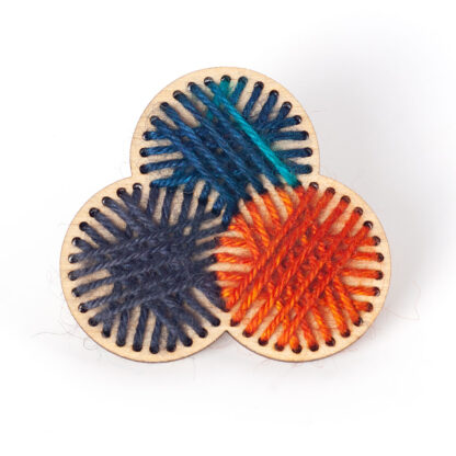 Stitched Yarn Ball Brooch