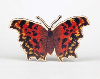 comma butterfly brooch