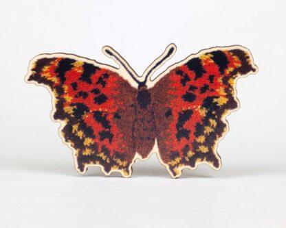comma butterfly brooch