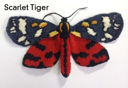 Knitted Scarlet Tiger Moth