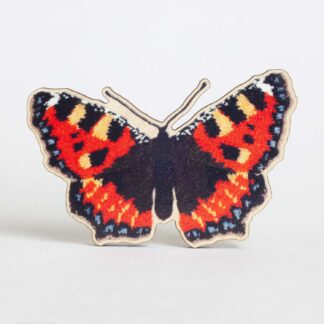 small tortoiseshell butterfly brooch