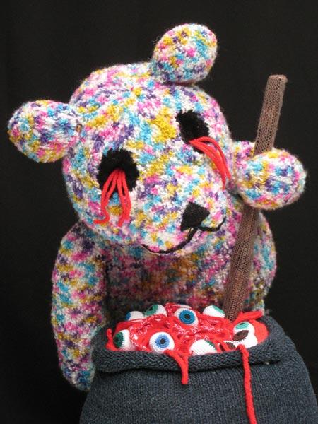 Knitted sculpture blood