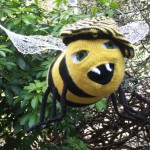 knitted bee sculpture