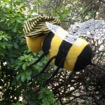 stripy knitted bee