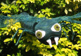 knitted dragonfly sculpture