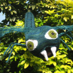 knitted fangs dragonfly sculpture