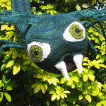 scary knitted sculpture