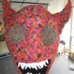 knitted monster sculpture